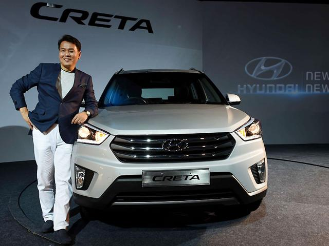 Managing Director and CEO, Hyundai Motors India limited, B S Seo poses during the launch of the Hyundai Creta in New Delhi. Photo: AFP