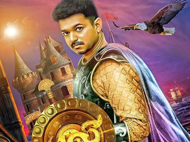 Puli (Tiger) is a Tamil fantasy drama starring Vijay, Sridevi, Shruti Haasan and Hansika Motwani. (ThePulimovie/Facebook)