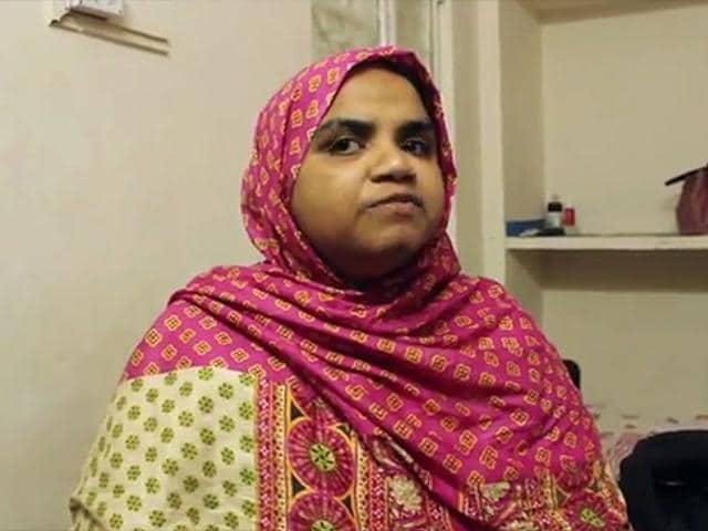 A video grab taken from a YouTube video shows Reem Shamsudeen, a Delhi University teacher.