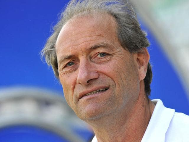 High performance director of Indian hockey Roelant Oltmans of the Netherlands was on July 25, 2015 named the coach of the Indian men's hockey team, following the sacking of Paul van Ass due to an altercation with Hockey India president Narinder Batra. (Vipin Kumar/HT Photo)