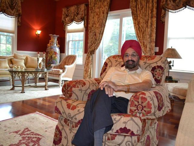 Baldev Singh in his plush home in Clarksville, Washington. HT Photo