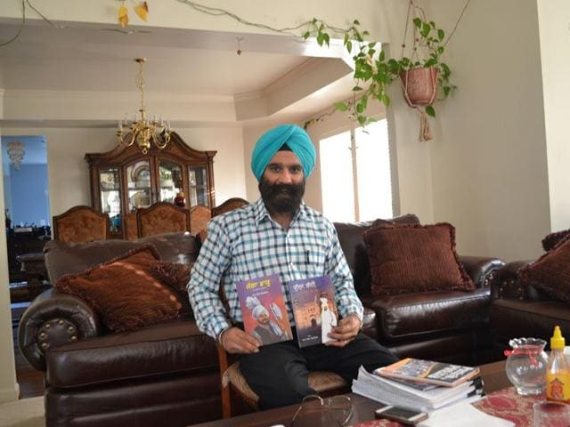 Dharam Singh Goraya at his home in Waldorf area of Maryland in Washington, US. HT Photo