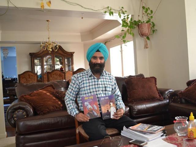 Dharam Singh Goraya at his home in Waldorf area of Maryland in Washington, US. HT Photo