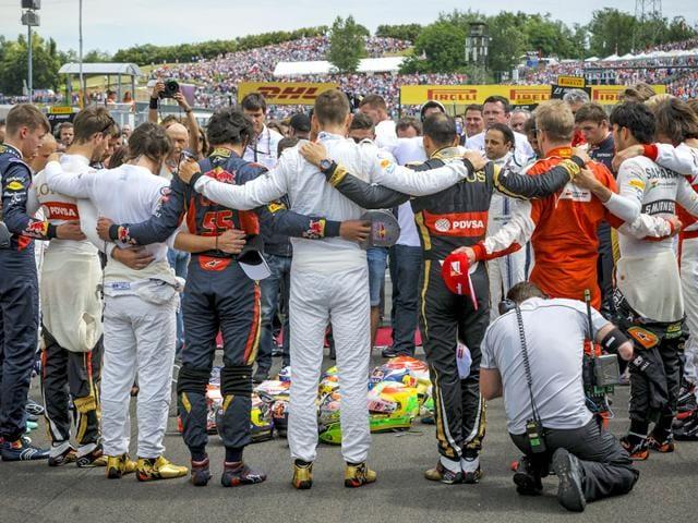 Jules Bianchi,Hungarian Grand Prix,Sebastian Vettel