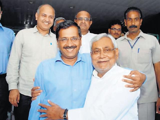 Nitish Kumar,Arvind Kejriwal,Delhi