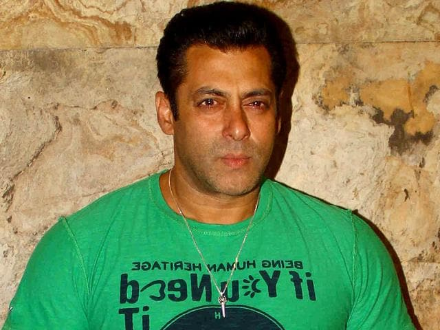 A file photo of Bollywood actor Salman Khan during a film screening for Bajrangi Bhaijaan. (IANS Photo)