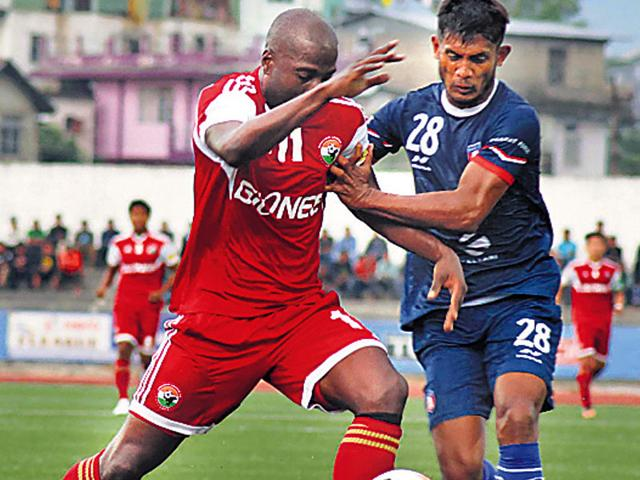 Syed Rahim Nabi (right) is among the Bharat FC players who will feature in this edition of the Indian Super League. (HT File Photo)