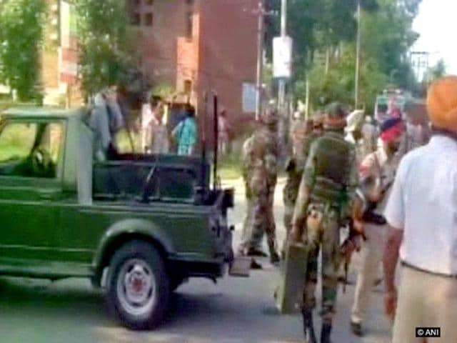 Security forces were on Monday battling an armed attack on a police station near the Pakistan border. (ANI Photo)