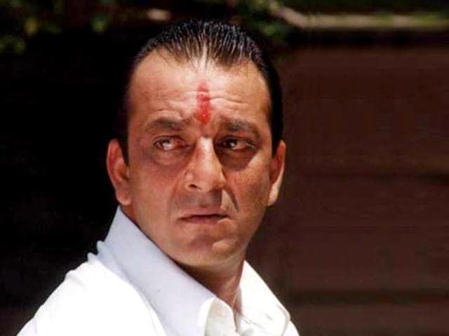 Sanjay Dutt in a still from Vaastav The Reality.