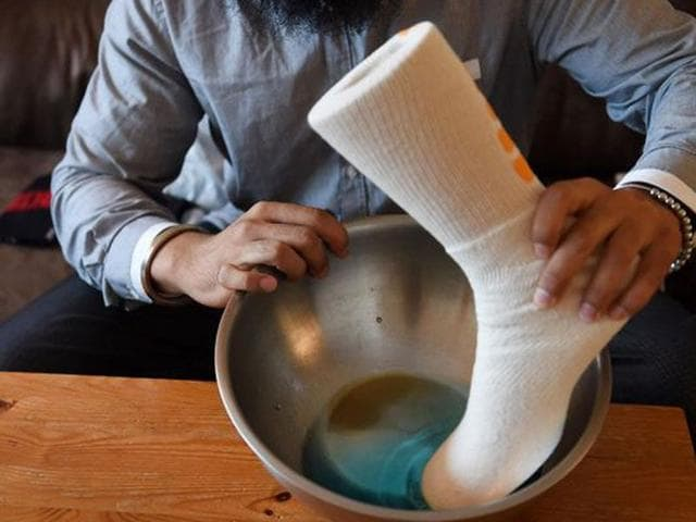water-resistant socks