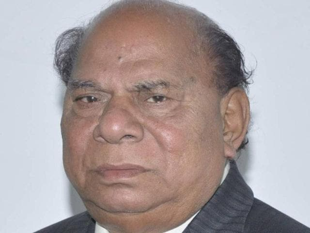 A senior Dalit leader, Choudhary Jagjit Singh served as the local bodies minister in Capt Amarinder Singh's government from 2002 to 2007. Pardeep Pandit/HT