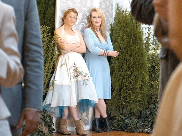 Meryl Streep with her real-life daughter Mamie Gummer in Ricki and the Flash. (Sony Pictures/AP)