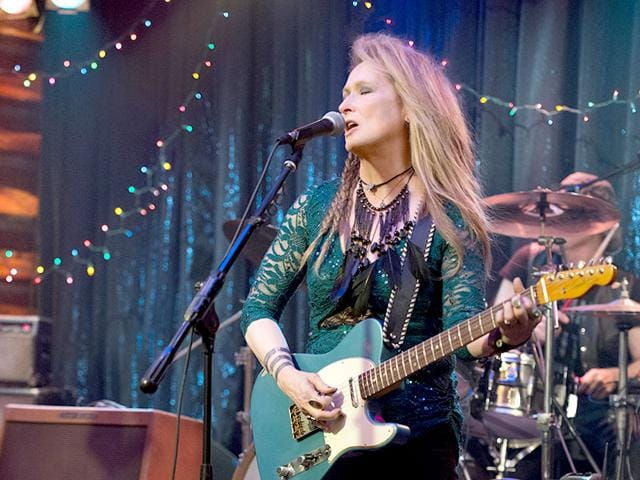 Meryl Streep plays an ageing rockstar in Ricki and the Flash. (Sony Pictures/AP)