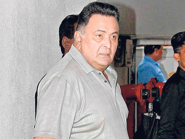 Rishi Kapoor spotted leaving a music company's office in Mumbai. (Photos: Yogen Shah)