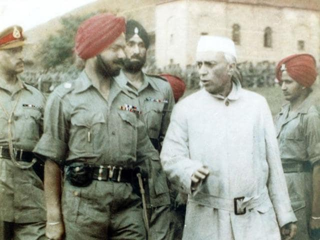 Colonel Harwant Singh was officer-in-charge of the flag-hoisting ceremony on the first Independence Day in 1947. HT Photo