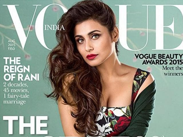 Rani Mukerji Vogue India cover