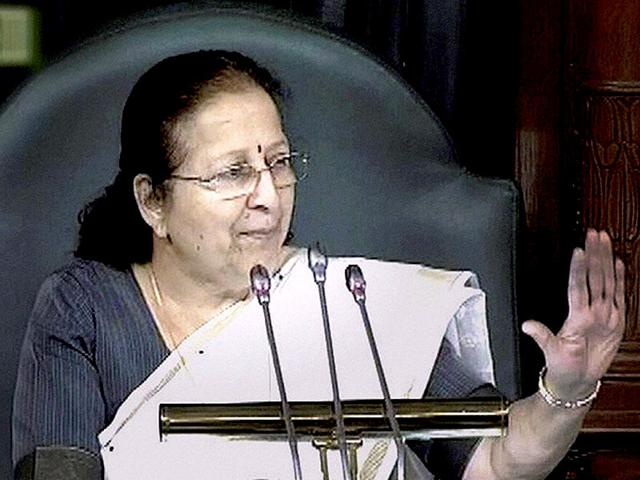Lok Sabha Speaker Sumitra Mahajan during proceedings of the lower House of Parliament. (PTI Photo)