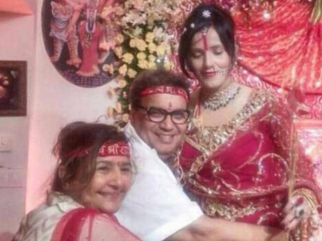This picture of Subhash Ghai and his wife hugging Radhe Maa went viral on the social media. Ghai has defended the self-styled spiritual guru in a statement.