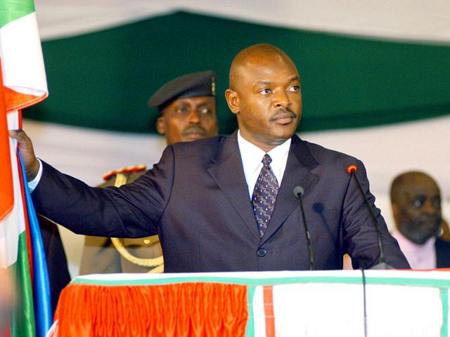 Burundi's President Pierre Nkurunziza takes the presidential oath in Parliament in the national Capital Bujumbura. (AP File Photo)