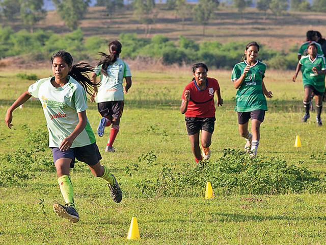 Girls in Jharkhand villages have used football to get ahead in life. (HT photo)