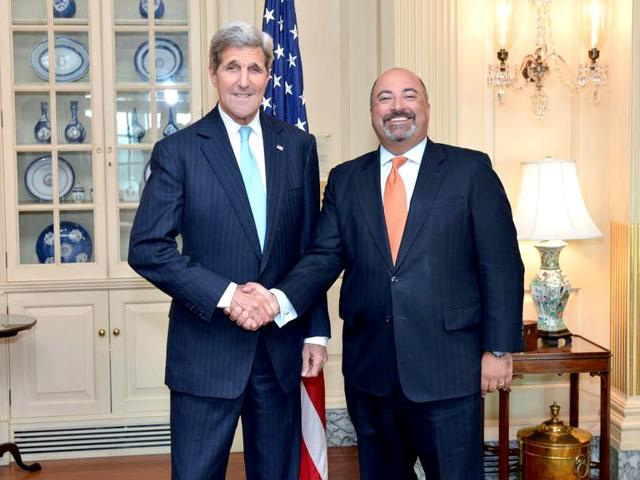 Indian-American Atul Keshap was sworn in as the US ambassador to Sri Lanka and Maldives (Photo: Official Twitter account of Sri Lanka's US Embassy)
