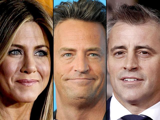 Jennifer Aniston, Matthew Perry and Matt LeBlanc worked together in 10 seasons of hit US sitcom Friends. (AP Photos)