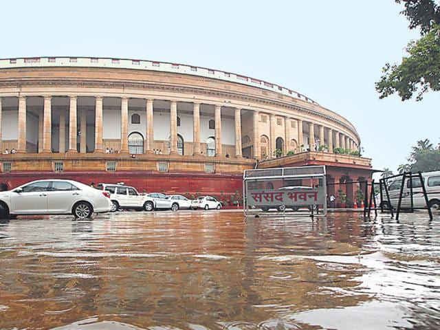 Members of the opposition in Lok Sabha during the Monsoon session of the Parliament in New Delhi on Tuesday. (PTI Photo)