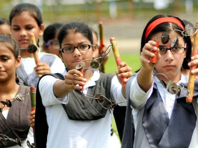 File-photo-of-school-students-discussing-their-exam-question-paper-PTI-photo