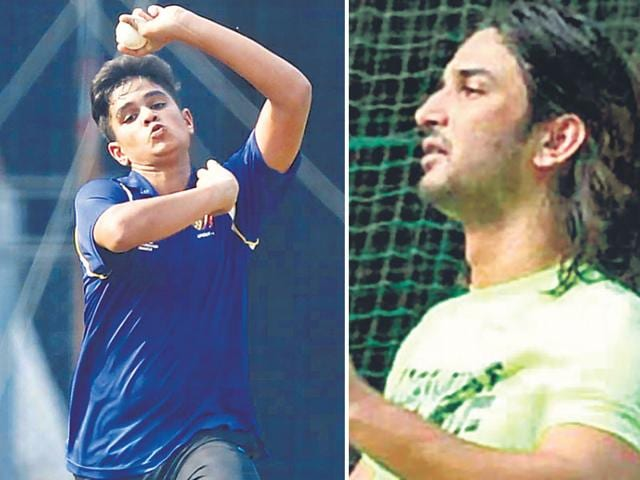 Sushant met Arjun. They interacted for some time, and even played cricket together.