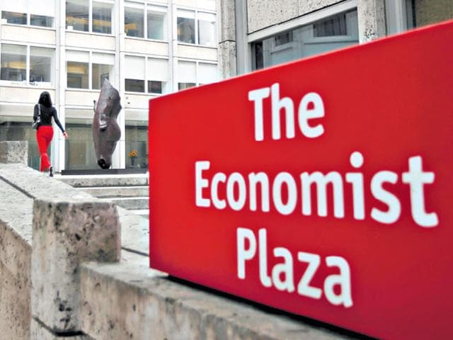 The headquarters of The Economist offices in London. (Reuters)