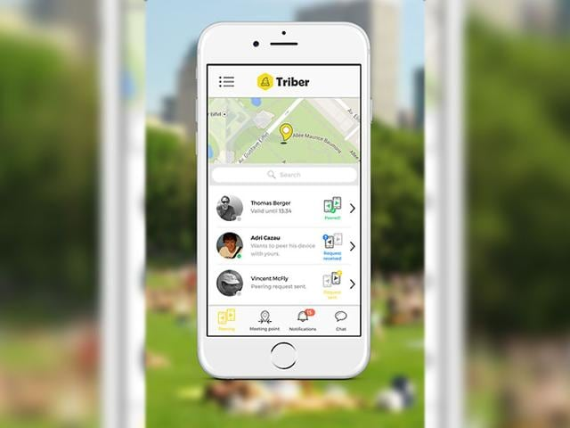 Triber acts as a compass to help you find your friends. Photo: AFP