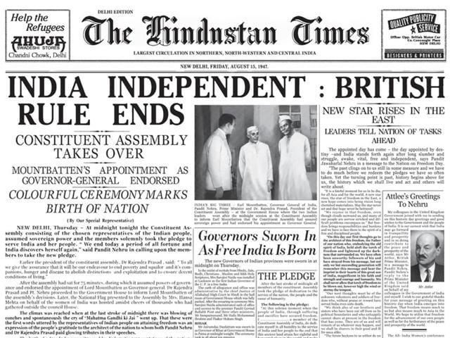 Independence Day Newspaper Clippings Around Aug 15 1947 India Hindustan Times