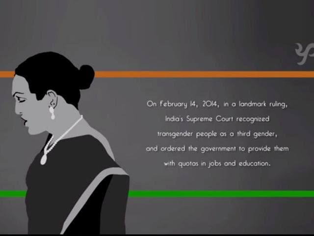 The members featuring in the video were brought together by Mumbai-based LBGT rights group The Humsafar Trust for a group of young film-makers. (Screengrab of the video)