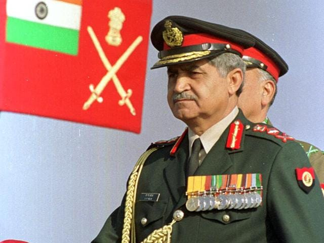 File photo of General (retd) VP Malik. (HT Photo)