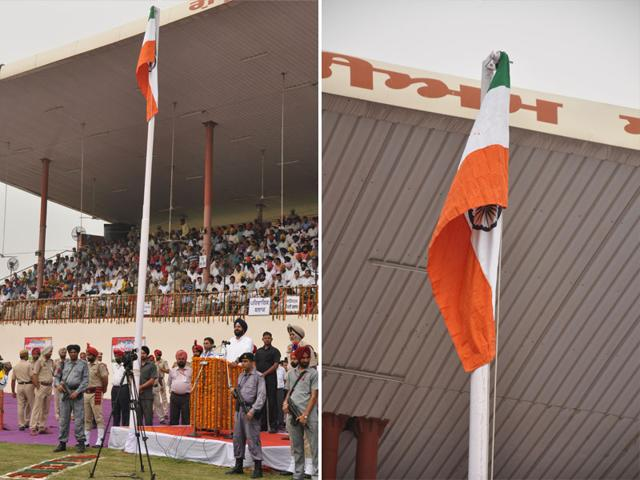 Bikram Singh Majithia,Independence Day,Tricolour