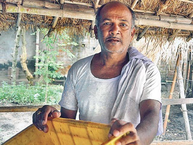 Chit fund investor Sunakar Swain. (Arabind Mahapatra / HT Photo)