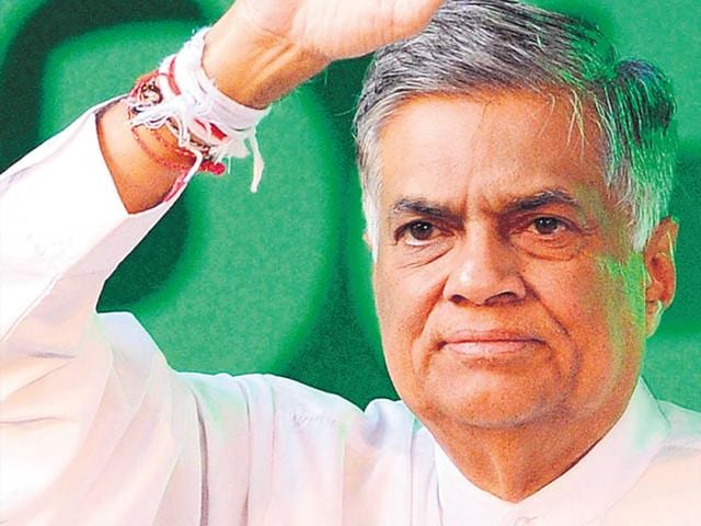Sri Lankan Prime Minister Ranil Wickremesinghe at an election rally in July, 2015. (AFP File Photo)