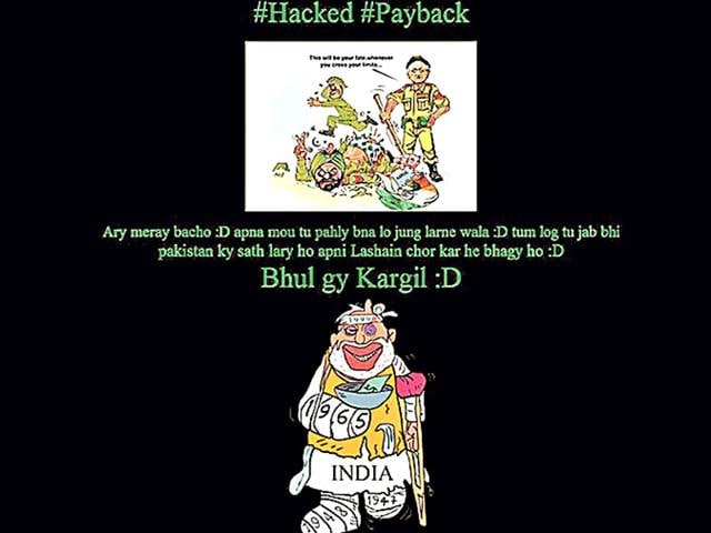 Pakistani hackers on Sunday defaced Rajasthan ACB website mocking Indian Army and Prime Minister Narendra Modi over Kargil and other wars between the two nations. (HT Photo)