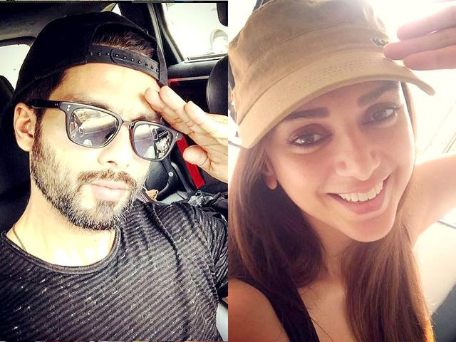 Shahid Kapoor and Aditi Rao Hydari faced flak on Instagram for posting salute selfies while saluting with their left hands. (Instagram Photos)