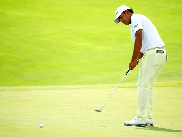 Anirban Lahiri during the final round of the 2015 PGA Championship at Whistling Straits in Sheboygan, Wisconsin. (Getty Images/AFP Photo)
