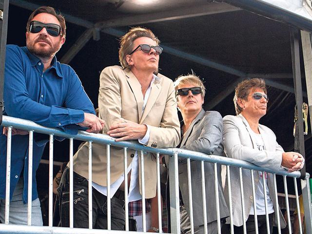 (From left) Simon Le Bon, John Taylor, Nick Rhodes and Roger Taylor of Duran Duran.