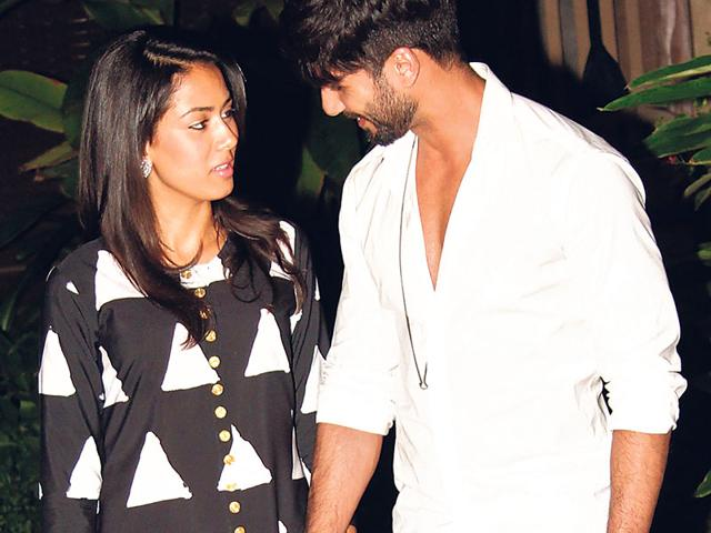 Shahid Kapoor's new bride, Mira Rajput, was thrilled to see the trailer of his first release post their wedding. (File)