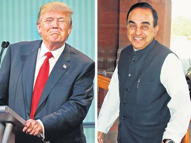 Political correctness has become despotic and stifling. In Donald Trump (left) and Subramanian Swamy (right) and others of their type, people find an outlet. (Reuters photo)