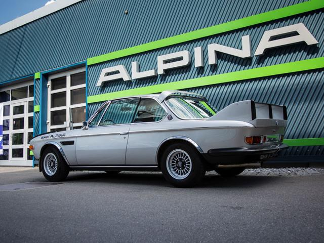BMW Alpina 3.0 CSL 1973 : Alpina soon became an integral part of BMW's motorsport arm and by the early 70s had moved on from overhauling engines to building its own Alpina-BMW-badged cars. Alpina's insistence led to the creation of one of the most legendary and collectable modern-era BMWs of all time, the 3.0 CSL. This model, with extra Alpina factory features, is one of fewer than 20 in the world. Photo:AFP