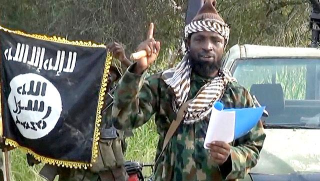 A screengrab of Boko Haram leader Abubakar Shekau from a video released by the Nigerian Islamist group.