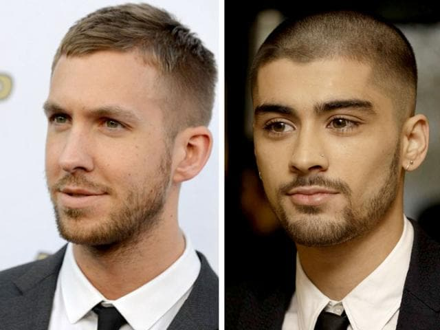 Calvin Harris and Zayn Malik got involved in an embarassing Twitter fued on Monday night. (AP Photos)
