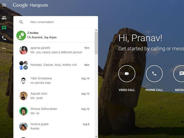 Here's Google's beautiful new website for Hangouts | social media