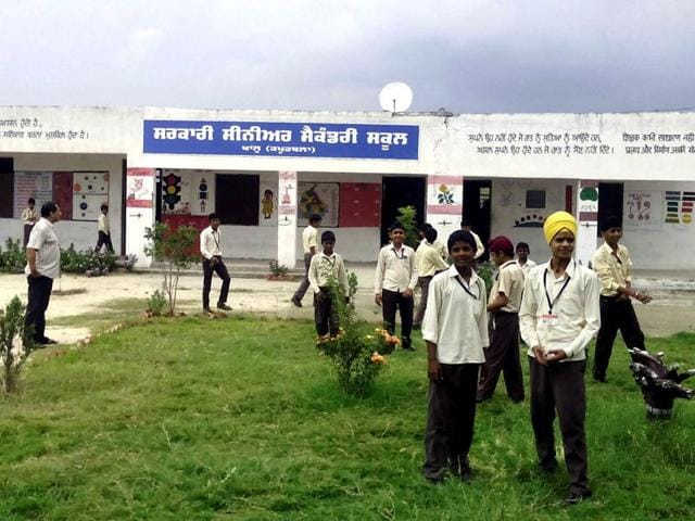 Government Senior Secondary School in Khaalu village Kapurthala to get its own website.(HT Photo)
