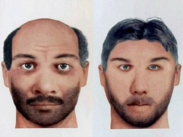 The sketches of the two men wanted in relations to the Udhampur terrorist attack case Abu Okasha (R), a resident of Khyber Pakhtunkhwa of Pakistan and Zargham alias Mohd Bhai a resident of Hazara Khyber, Pakhtunkhwa of Pakistan released by the NIA (PTI Photo)