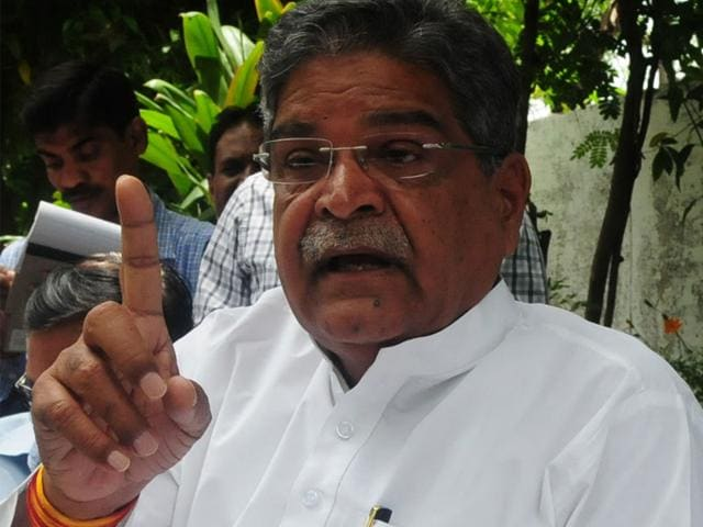 Gaurishankar Shejwar, who was suspended from the party on the charges of anti-party activities, is presently the forest minister in Shivraj Singh Chouhan cabinet. (Mujeeb Faruqui/HT photo)